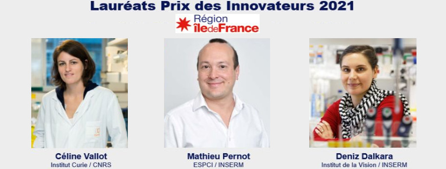 Mathieu Pernot awarded an Innovator Prize by the region Ile-de-France